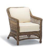 gorgeous driftwood & cream patio or sunroom chair