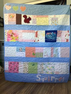 A quilt made from your childs clothing is a wonderful way to preserve the memories their clothing holds.  A baby's clothes have so many special