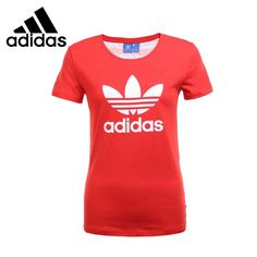 38.93$  Buy now - http://ali4w7.shopchina.info/go.php?t=32800485467 - Original New Arrival 2017 Adidas Originals TREFOIL TEE Women's T-shirts short sleeve Sportswear  #buymethat