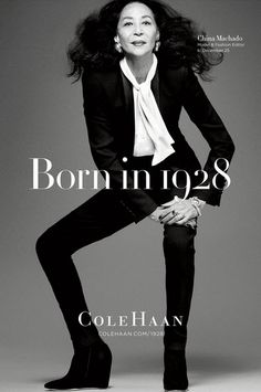 The fabulous China Machado for Cole Haan