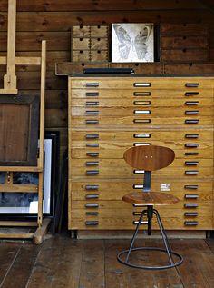Wooden flat files