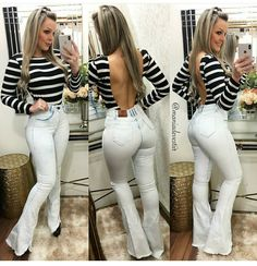 Jeans pants, the trend goes viral in Europe as well as now in Asian countries too. Here we share 30 tight jeans girls looking so hot of wearing jeans pants. Sexy Outfits, Chic Outfits, Fashion Outfits, Jean Sexy, Girl Fashion, Womens Fashion, Online Dress Shopping, Sexy Jeans, Girls Jeans
