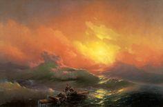 """La novena ola"". Ivan Aivazovsky (Rusia, 1817-1900)."
