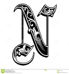 Garnished Gothic Style Font, Letter N - Download From Over 36 Million High Quality Stock Photos, Images, Vectors. Sign up for FREE today. Image: 38517795