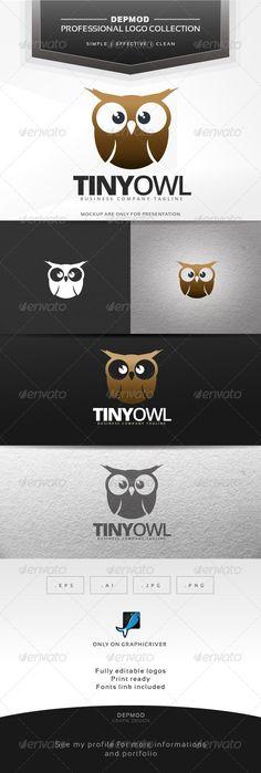 Tiny Owl Logo — Transparent PNG #school #tiny • Available here → https://graphicriver.net/item/tiny-owl-logo/7001264?ref=pxcr