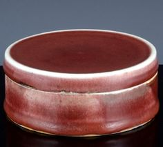 RARE 17/18THC CHINESE KANGXI LANGYAO COPPER RED FLAMBE GLAZE SEAL PASTE JAR BOX Copper Red, Glaze, Past, Seal, Porcelain, Chinese, Pottery, Antiques, Box