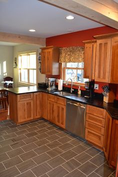 Kitchen Design Ideas Gallery kitchen photos cherry wood yellow walls design, pictures, remodel