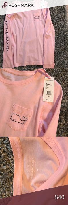 Long sleeve vineyard vines pink t shirt NWT Long sleeve vineyard vines pink t shirt NWT Vineyard Vines Tops Tees - Long Sleeve