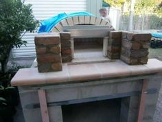 construction of our wood fired pizza bread oven - YouTube