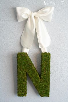 Spring Moss Monogram Wreath | Two Twenty One