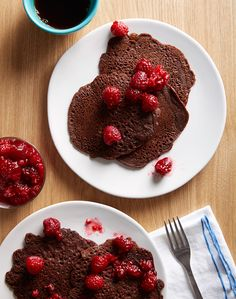 This probably isn't much healthier, but boy do these look good! Gluten Free Cocoa Pancake Recipe