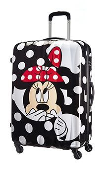 Disney 4-wheel Spinner 75cm large suitcase Minnie Dots