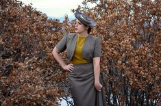 The Closet Historian.  Charlotte Skirt or Vogue 8956. Bolero or swagger jacket from Simplicity 1319