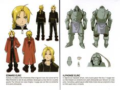 Model sheet extraits du livret d'information - Fullmetal Alchemist Box DVD collector 1 (Dybex - 2008) http://www.otakia.com/4503/produit/supports-video/dvd/fullmetal-alchemist-box-dvd-collector-1-dybex-2008/attachment/Livret_Backbone_05_model_sheet/ ★ || CHARACTER DESIGN REFERENCES | キャラクターデザイン  • Find more artworks at https://www.facebook.com/CharacterDesignReferences & http://www.pinterest.com/characterdesigh and learn how to draw: #concept #art #animation #anime #comics || ★