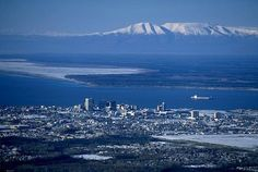 """Anchorage and """"The Sleeping Lady"""" Mt. Susitna"""