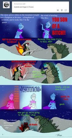Godzilla - Frozen by RoFlo-Felorez.deviantart.com on @DeviantArt