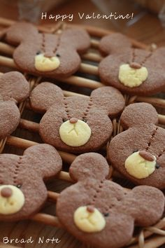 ジャッキーのクッキー by tomoさん Bear Cookies, Galletas Cookies, Cute Cookies, Cookie Recipes For Kids, Sweets Recipes, Cute Food, Yummy Food, Bolacha Cookies, Making Sweets