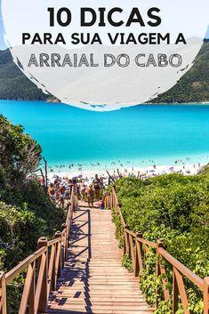 Arraial do Cabo: Dicas para organizar sua viagem. Descubra quando ir, como chegar e se locomover, onde se hospedar, quais são as principais praias, passeios e atrações, além de onde comer. #arraial #arraialdocabo #rj
