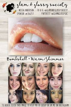 Bombshell LipSense, Warm/Yellow Base, Shimmer Finish To Order: Click this image to visit Glam & Glossy Society's FB Client Group or DM me on Instagram @Glam.and.Glossy.Society  Keywords: Lips, beauty, makeup, fashion, 2017, matte, gloss, lip color, lip stick