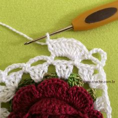 Barradinho para toalha de banho | Croche.com.br