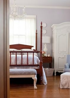 The Decorologist Bedroom - part of a vintage house tour.  eclecticallyvintage.com