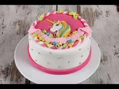 Unicorn Party, Unicorn Birthday, 3rd Birthday, Unicorn Cakes, Unicorn Youtube, Cake Tutorial, Cute Cakes, Cute Designs, Kids Meals