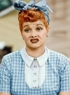 Lucille Ball (Everett Collection)... Pretty sur this is how I look everytime I clock in for my shift during a one day sale.