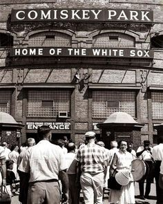Comiskey Park, Home of the White Sox, (Chicago Pin of the Day, White Sox Baseball, Baseball Park, Baseball Classic, Baseball Stuff, Chicago City, Chicago Illinois, Chicago White Sox Stadium, Chicago Chicago, Southern Illinois