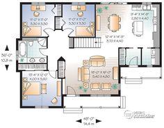 Détail du plan de Maison unifamiliale W3123