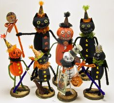 Spooksville Mini Dolls Halloween Figures Lot of 6