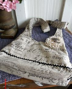 Paris Linen Hobo Bag Shoulder or Cross Body Zebra Lined Flat Bottom French Chic Oversized Handmade One of a Kind