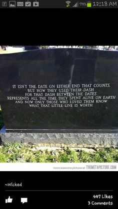 Tomb stone I want