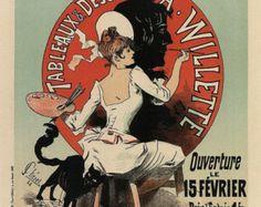 Manifesto di stile dell'annata della Belle Epoque di Cheret Jules, P057