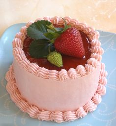 Strawberry Mini Cake   Flickr - Photo Sharing!