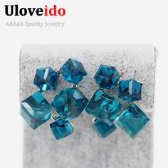 Find More Stud Earrings Information about Fashion Square CZ Diamond Blue Sapphire Red Ruby Stud Earrings For Love Women Austria Crystal Jewelry Pendientes Mujer GR124,High Quality earrings punk,China earring shell Suppliers, Cheap earring earphones from Ulovestore Fashion Jewelry on Aliexpress.com