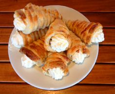 Chef Steve Boswell's home-made cream horns, aboard the Majestic Line's Glen Tarsan