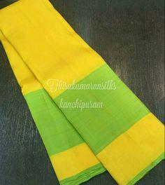 Bright yellow #kanjivaram from #Thirukumaransilks  Can contact us @ The Thirukumaransilk@gmail.com or @ +919842322992/WhatsApp