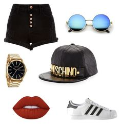 """""""Untitled #2"""" by pomagd on Polyvore featuring adidas, Moschino, River Island, Lime Crime and Nixon"""