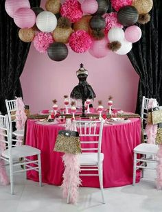 Decoration for party tables party table decoration idea for girls cowboy theme party tables . decoration for party tables birthday party table decorations 40th Birthday Parties, Birthday Party Decorations, Party Themes, Party Ideas, Birthday Ideas, Women Birthday, Theme Ideas, Decor Ideas, Diva Party
