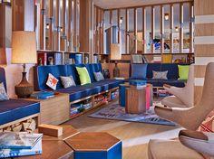 Fun Lobby/Game room! #ski #skiing #decor #organization #winter #games SkiMag.com