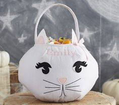 White Kitty Treat Bag | Pottery Barn Kids