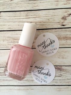 Nail polish favor tags for baby shower or by AFairyPaperShop