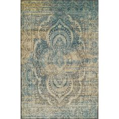 World Menagerie Kaetzel Beige/Blue Area Rug Rug Size: Rectangle x Mold And Mildew, Beige Rug, Eclectic Decor, Beige Area Rugs, 9x12 Rug, Oriental, Rug Pad, Area Rugs, Beige