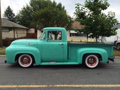 1956 Ford Vintage Pickup Trucks, Old Trucks, 1956 F100, 1956 Ford Truck, White Walls, Ford Mustang, Old School, Antique Cars, Fat