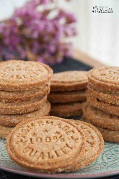 Galletas digestive de avena | Galletas para matilde Coconut Cookies, Yummy Cookies, Cupcake Cookies, Galletas Cookies, Cupcakes, Cookie Recipes, Snack Recipes, Dessert Recipes, Digestive Cookies