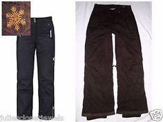 "Women's Polar Edge ""Alymosa"" Gold Series Ski Pant Windproof Water Resistant L Dark Brown (very pretty & rare color!)"