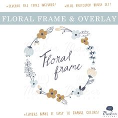 Hey, I found this really awesome Etsy listing at https://www.etsy.com/listing/121736743/floral-frame-photo-overlay-flower-clip