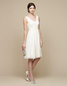 schickes Kleid für Standesamt knielang Brautkleid Standesamt, Schickes Kleid,  Brautkleider, Elfenbein Kleider, c7f9fab73f