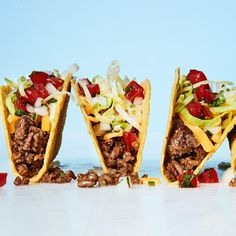 As far as we're concerned, tacos are one of the major food groups. Check out our favorite recipes, including easy grilled chicken tacos, fish tacos to steak to carnitas. Best Ground Beef Recipes, Ground Beef Recipes For Dinner, Dinner Recipes Easy Quick, Quick Meals, Delicious Recipes, How To Make Taco, Food To Make, Quesadillas, Empanadas