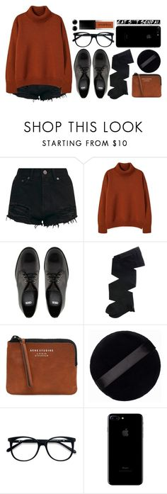 """coffee shop dreams"" by antisocial-vagabond ❤ liked on Polyvore featuring ASOS, Gerbe, Acne Studios, MAKE UP STORE and EyeBuyDirect.com"